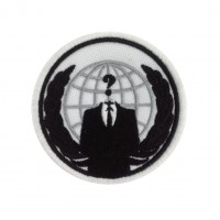 1522 Embroidered patch 7x7  WE ARE ANONYMOUS