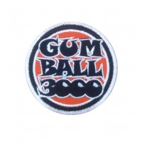 1526 Patch emblema bordado 7x7 GUMBALL 3000