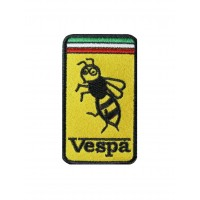 Patch emblema bordado 9x5 Vespa
