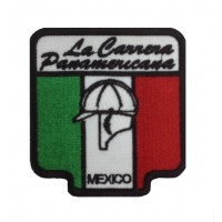 1538 Embroidered patch sew on 8x8 LA CARRERA PANAMERICANA MEXICO