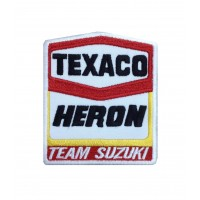 1540 Embroidered patch sew on 10x8 TEAM HERON SUZUKI TEXACO BARRY SHEENE