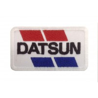 1556 Embroidered patch sew on 8X4 DATSUN