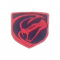 1557 Embroidered patch sew on 8x8 DODGE VIPER