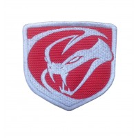 1558 Embroidered patch sew on 8x8 DODGE VIPER