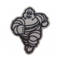 0843 Embroidered patch 9x7 MICHELIN BIBENDUM white