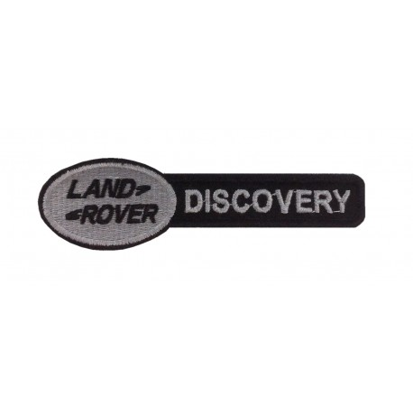 0946 Embroidered patch 11X3 LAND ROVER DISCOVERY black