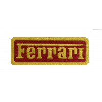 1568 Patch emblema bordado 8X3 FERRARI