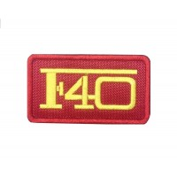 1569 Patch emblema bordado 8x6 FERRARI F40