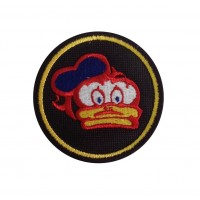 1572 Embroidered patch 7x7 BARRY SHEENE DONALD DUCK