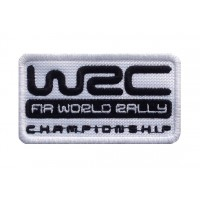 1574 Patch emblema bordado 8X5 WRC FIA WORLD RALLY CHAMPIONSHIP