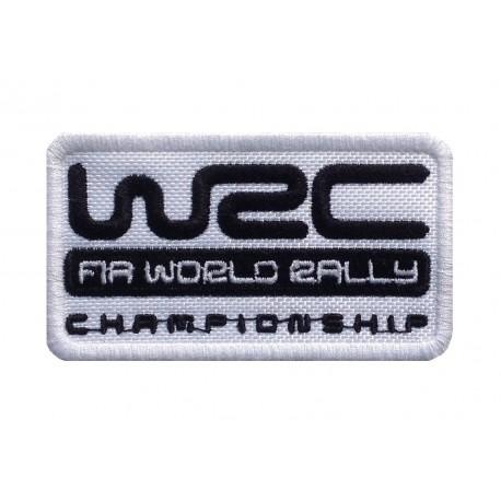 1574 Patch emblema bordado 8X5 WRC FIA WORLD RALLY CHAMPIONSHIP