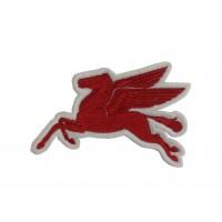 1576 Patch emblema bordado 10x6 MOBIL PEGASUS