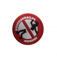 1577 Patch emblema bordado 6X6 GUARDARRAILES ASESINOS