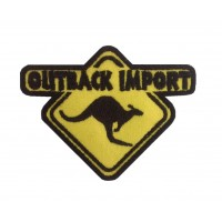 0345 Embroidered patch 9x7 OUTBACK IMPORT