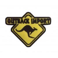 0345 Patch emblema bordado 9x7 OUTBACK IMPORT