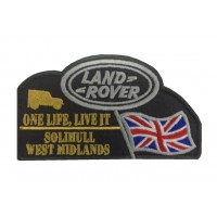 1586 Patch emblema bordado 13x7 LAND ROVER ONE LIFE, LIVE IT - SOLIHULL WEST MIDLANDS
