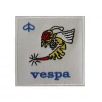 Embroidered patch 7x7 Piaggio Vespa