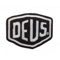 1591 Embroidered patch sew on 8x6 DEUS EX MACHINA black