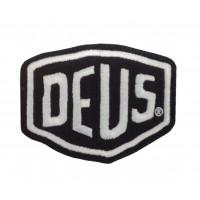1591 Patch emblema bordado 8x6 DEUS EX MACHINA preto