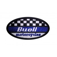 1594 Embroidered patch sew on 9x5 BUELL MOTORCYCLES