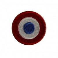 0194 Embroidered patch 4x4 French flag VESPA PIAGGIO