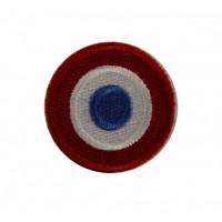 0194 Patch emblema bordado 4x4 bandeira França VESPA PIAGGIO
