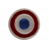 0195 Embroidered patch 4x4 French flag VESPA PIAGGIO