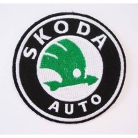Embroidered patch 5X5 SKODA
