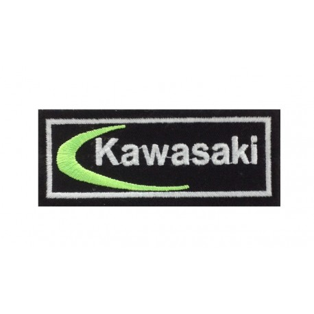 1670 Embroidered sew on patch 10x4 KAWASAKI