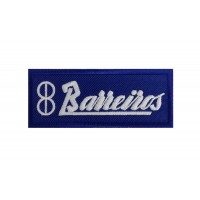 1671 Embroidered sew on patch 10x4 BARREIROS