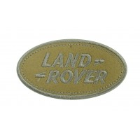 0236 Embroidered patch 9x5 LAND ROVER grey