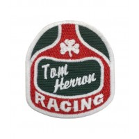 1677 Embroidered sew on patch 7x6 TOM HERRON RACING