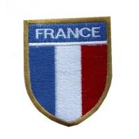 Patch emblema bordado 9X7 FRANÇA
