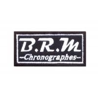 1711 Patch emblema bordado 8x4 BRM CHRONOGRAPHES