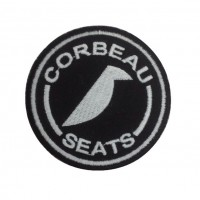 1718 Embroidered sew on patch 7x7 CORBEAU SEATS