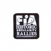 1719 Embroidered sew on patch 6X6 FIA HISTORIC REGULARITY RALLIES