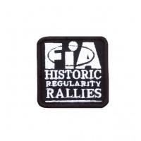 1719 Patch emblema bordado 6X6 FIA HISTORIC REGULARITY RALLIES