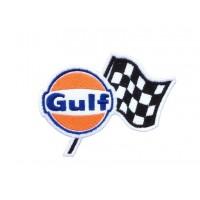 1724 Parche emblema bordado 10X7 GULF