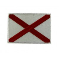 Embroidered patch 7X5 flag english cross