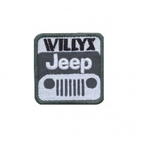 1734 Embroidered patch 6X6 JEEP WILLYS