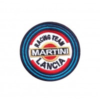 1735 Patch écusson brodé  7x7 LANCIA MARTINI RACING TEAM