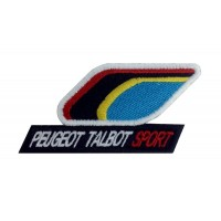 0972 Patch emblema bordado 10x5 PEUGEOT TALBOT SPORT 205 T16