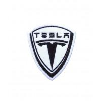 1752 Parche emblema bordado 8x6 TESLA MOTORS