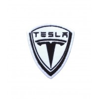 1752 Embroidered patch 8x6 TESLA MOTORS