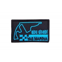 1754 Embroidered patch 7x4 CIRCUIT YAS MARINA ABU DHABI