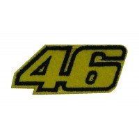 0399 Embroidered patch 8x4  Nº 46 VALENTINO ROSSI