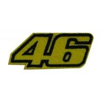 0399 Patch emblema bordado 8x4 Nº 46 VALENTINO ROSSI