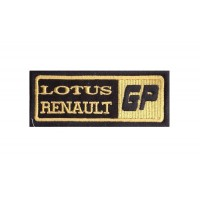 1760 Patch emblema bordado 10x4 LOTUS RENAULT GP