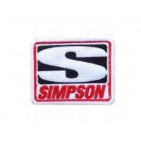 1767 Parche emblema bordado 8x6 SIMPSON
