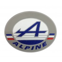 1783 Patch emblema bordado 22X17 ALPINE RENAULT FRANÇA
